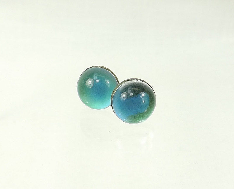 Stud Earrings Mood Ring Style Color Change Earrings surgical steel posts Mood earrings - product images  of