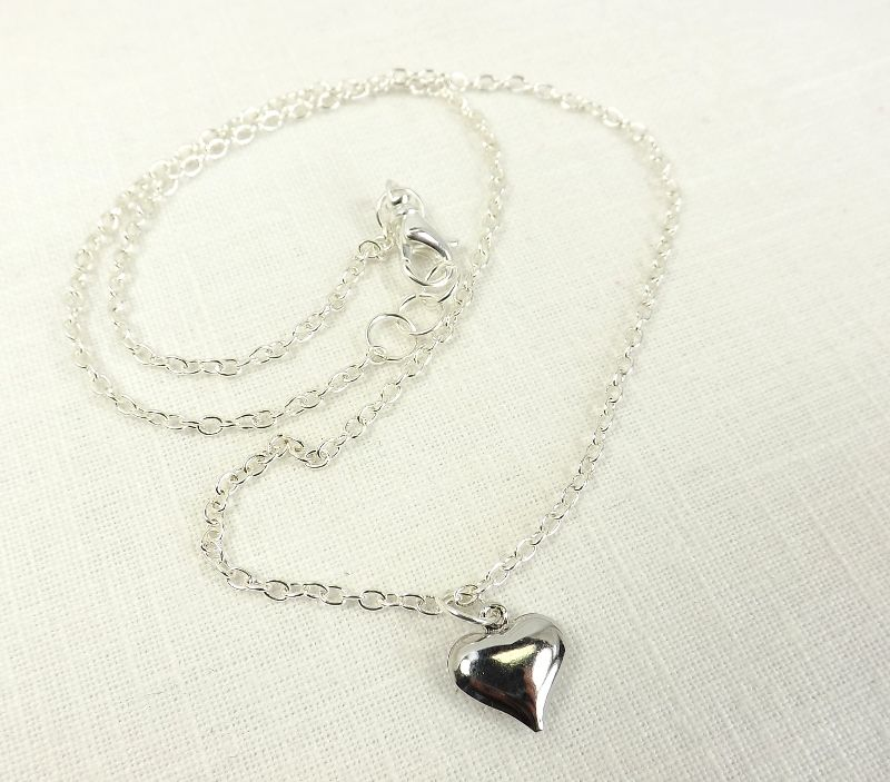 Heart Pendant Necklace minimalist jewelry charm necklace  - product images  of