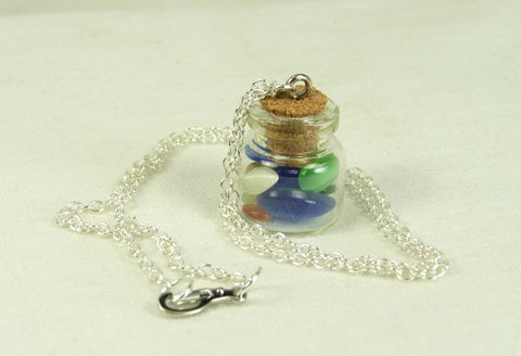 Bottle,Jewelry,Womens,Necklace,Pendant,Glass,Jar,Cats,Eyes,glass bottle pendant, jar pendant, womens necklace, Cabochons Necklace, jar necklace, cats eye necklace, womens jewelry, colorful jewelry, bottle jewelry, glass jar necklace, cats eye jewelry, gift for her