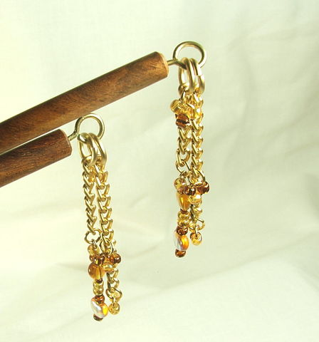 Beaded,Hair,stick,set.,6,inches.,Honey,hearts,gold,color,glass,beads,hair,acccessory.,Autumn,themed,chop,sticks,beaded hair stick set, 6 inch hair sticks, autumn themed hairsticks, hair chop sticks, beaded hair accessory