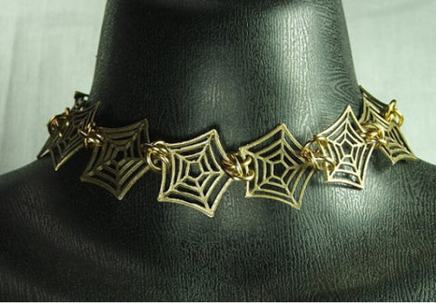 Spider,Web,Choker,Fairy,tale,Jewelry,Womens,Chain,maille,links,Spider Web choker, womens jewelry, fairy tale jewelry, womens choker, chain maille choker