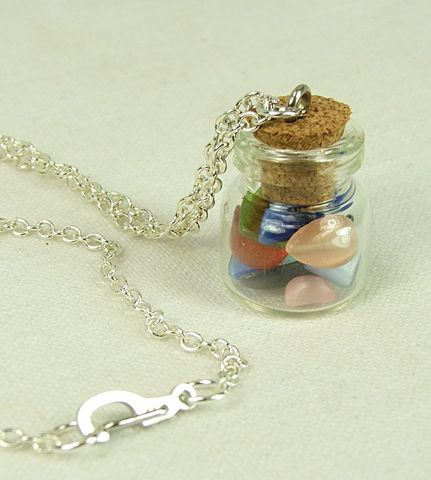 Jar,Jewelry,Cats,Eye,Necklace,Cabachon,Mix,Glass,Bottle,Pendant,Womens,jar jewelry, cats eye necklace, cabachon glass bottle pendant, womens jewelry
