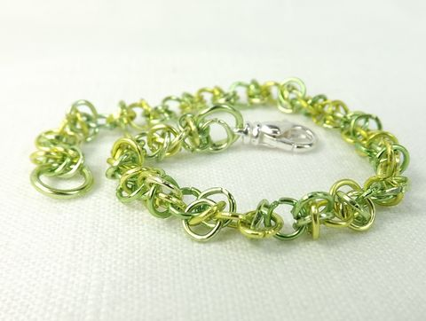 Mini,Chainmaille,Bracelet,Lemon,Lime,Tiny,Delicate,Jewelry,Handmade,Chain,women's,jewelry,tiny chainmaille bracelet, delicate jewelry, womens bracelet, womens jewelry, chain maille jewelry, handmade chain bracelet, green bracelet, lemon lime color jewelry