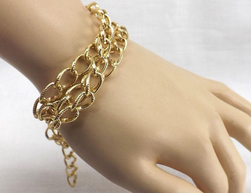 Triple Chain Bracelet Chunky Jewelry
