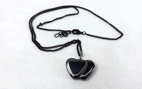 Stone,heart,pendant,with,chain,,black,hearts,pendant,,jewelry,,double,necklace,gift,for,her,under,20,stone heart ,heart pendant, pendant with chain, black hearts, heart jewelry, gift for he,r gift under 20, double hearts, stone heart pendant, gift under 30, gothic heart jewelry, black heart jewelry, stone heart jewelry