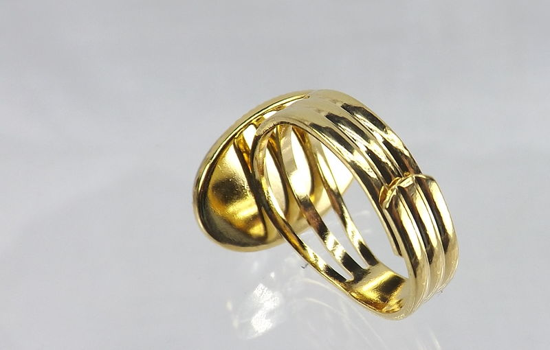Adjustable Gold Band Mood Ring Color Changing Jewelry - product images  of