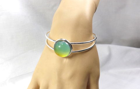 Bangle,Bracelet,with,mood,stone,Boho,cuff,jewelry,gift,for,her,bangle bracelet, silver bangle, bracelet with stone, mood ring cuff, boho cuff, mood jewelry, silver bracelet, color change bracelet