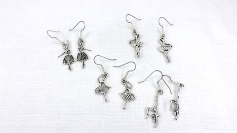 Dancer,Earrings,Set,jewelry,gift,set,stainless,steel,ear,wire,ballet,earrings,Dancer Earrings Set, jewelry gift set, stainless steel ear wire, ballet earrings, silver earrings