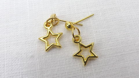 Small,star,earrings,,tiny,ball,stud,jewelry,,dangle,earrings,Small star earrings, tiny ball stud earrings, star jewelry, tiny dangle earrings
