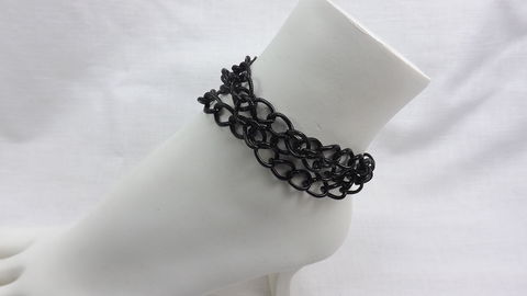 Black,chain,anklet,,chunky,anklet,bracelet,,dressy,jewelry,,three,Black chain anklet, chunky chain anklet bracelet, dressy jewelry, three chain anklet, black jewelry, womens jewelry, everyday jewelry, unique anklet