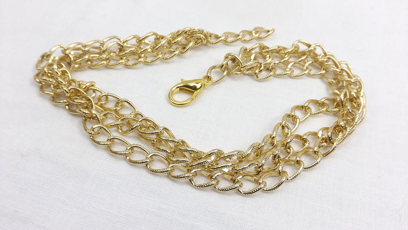 Triple Chain Necklace Chunky Jewelry