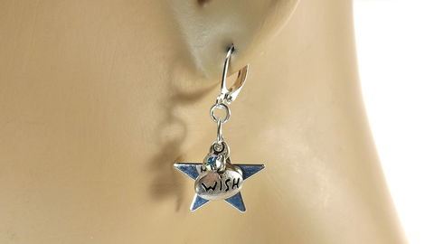 Wishing,stars,earrings,,celestial,jewelry,,rhinestone,Dangle,silver,star,under,20,gift,for,her,Wishing stars earrings, celestial jewelry, rhinestone earrings, Dangle silver star earrings, under 20 gift for her, word jewelry