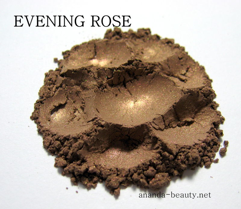 *50% clearance* EVENING ROSE brown with rose gold iridescence mineral eye shadow   - product images  of