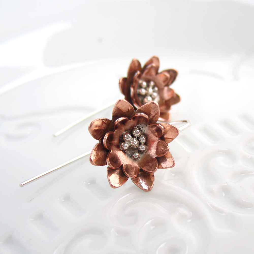 Hellebore Sterling Silver & Copper Jewellery