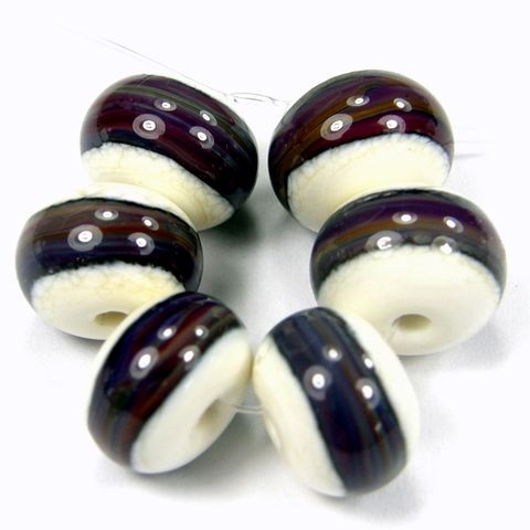 Lampwork,Beads,Handmade,Glass,Set,Ivory,Double,Helix,Band,SRA,covergirlbeads, lampwork beads, handmade, lampwork, glass, bead, set, handmade lampwork beads, glass beads, ivory, double helix, double helix beads, band beads, ivory beads, opaque beads, sra