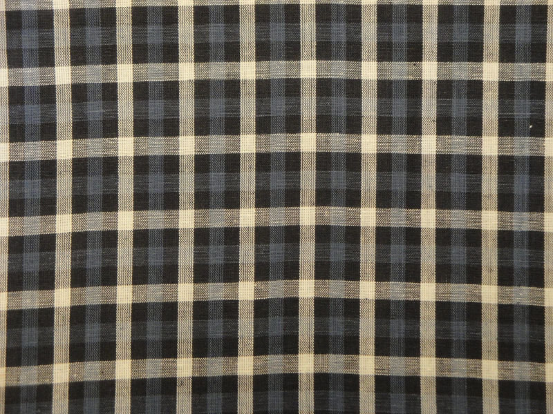 Blue Check Homespun Material Sold By The Yard - product image