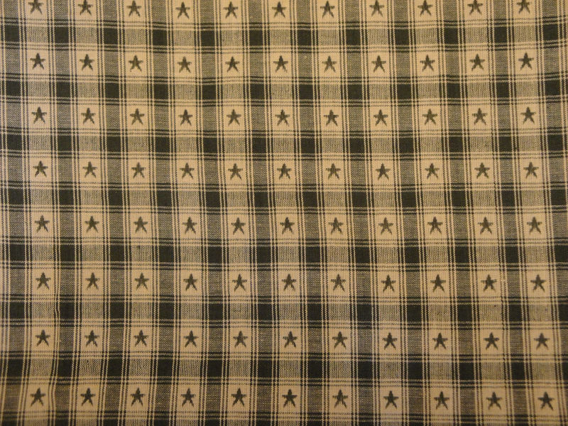 Country Cupboard Jacquard Green Star Plaid Fabric Sold By The Yard - product image