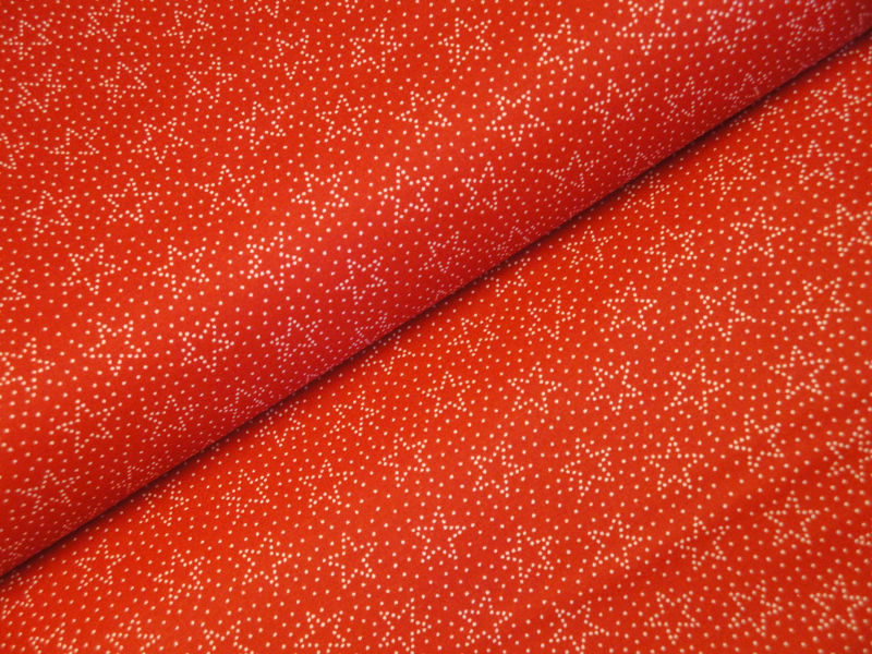 Red Stars And Dots Fabric Sold By The Yard - product image