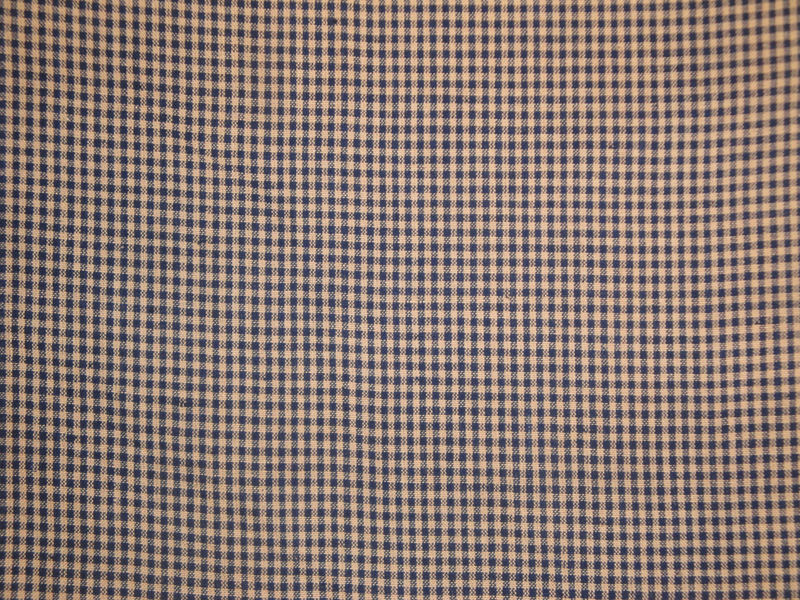 Homespun Fabric Small Navy Check 1 Yard - product image