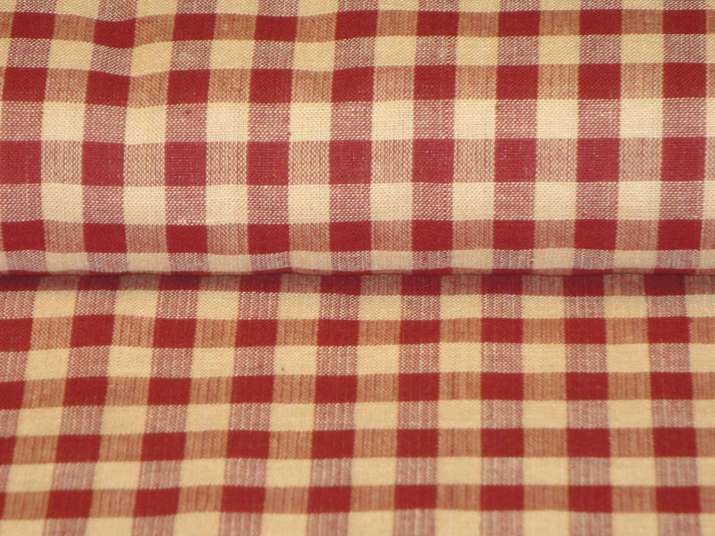 Cotton Homespun Fabric Large Wine Check  By The Yard - product image
