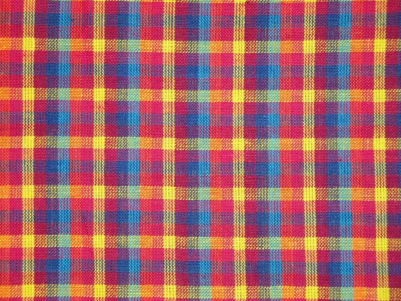 Cotton Homespun Multi Color Check Fabric Sold By The Yard - product image
