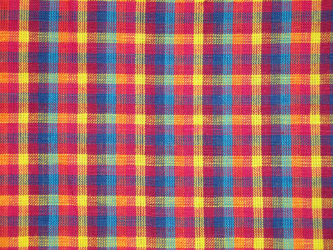 Cotton,Homespun,Multi,Color,Check,Fabric,Sold,By,The,Yard,Supplies,Yardage,homespun_material,woven_material,fabric_shop,designer_fabric,colorful_fabric,rag_quilt_fabric,quilt_fabric,sewing_fabric,craft_supply,cotton_material,plaid_material,multi_color_plaid,RW0134,Cotton Homespun Material,Cotton Fabric,Fa