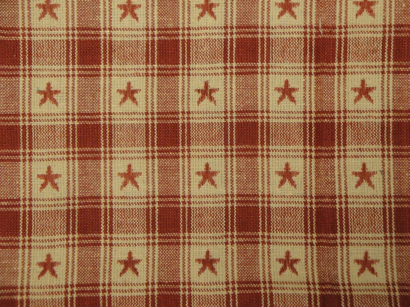 Country Cupboard Jacquard Wine Star Plaid Fabric Sold By The Yard - product image