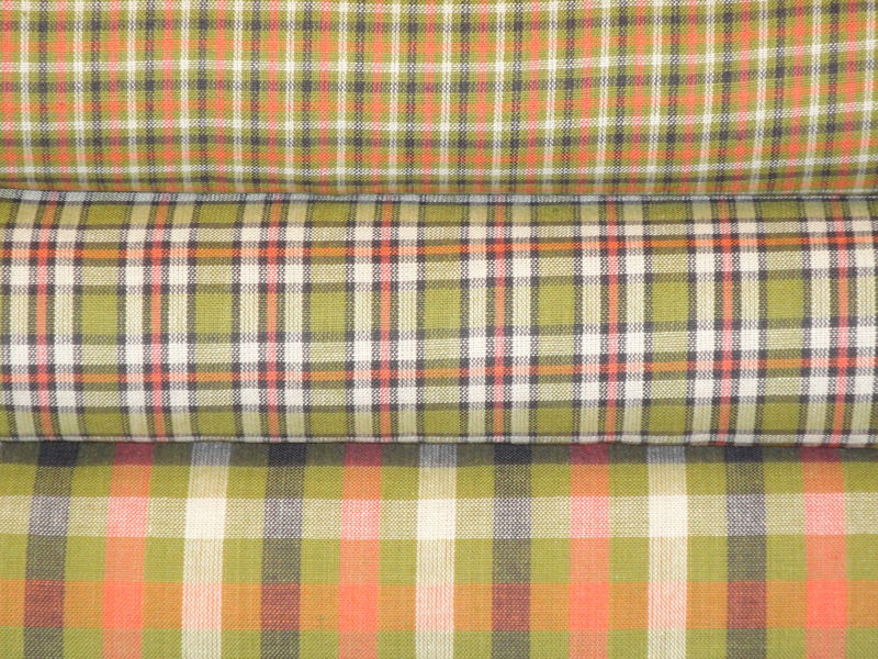 Homespun Plaid Cotton Fabric Sold By The Yard  - product image
