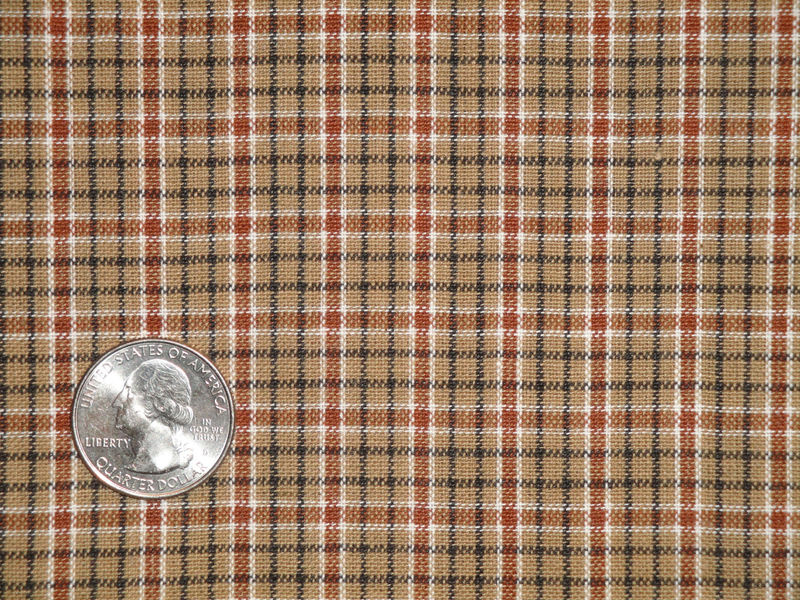 Plaid Homespun Fabric | Primitive Fabric | Cotton Fabric | Rag Quilt Fabric | Doll Making Fabric | Home Decor Fabric | 1 Yard - product image