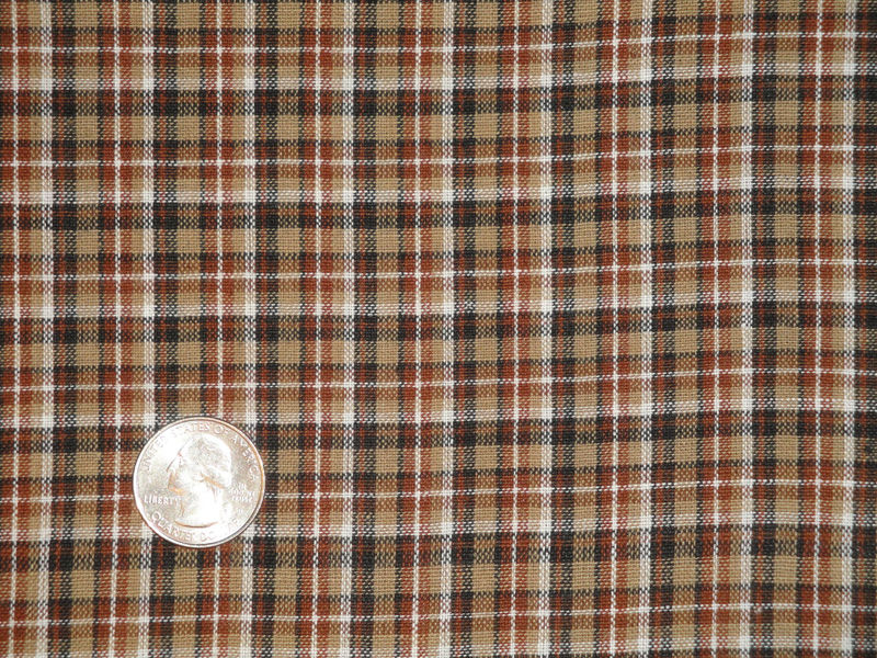 Plaid Homespun Material | Primitive Material | Cotton Material | Rag Quilt Material | Doll Making Material | Home Decor Material | 1 Yard - product image
