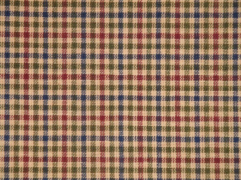Navy Olive Wine And Tea Dye Small Check Sold By The Yard - product image