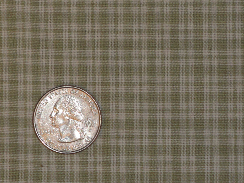 Light Grey Small Plaid Homespun Material Sold By The Yard - product image