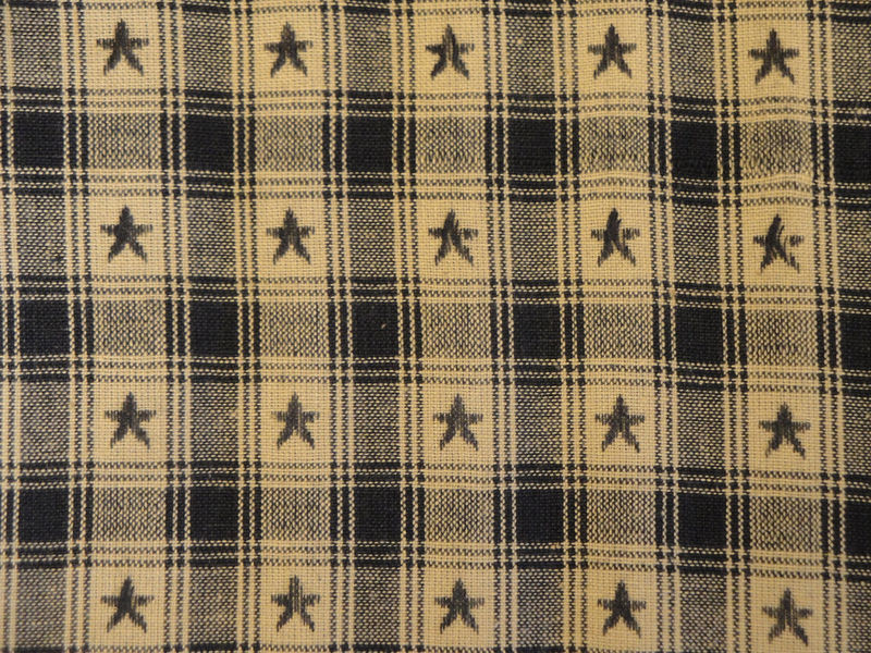 Country Cupboard Jacquard Navy Star Plaid Fabric Sold  By The Yard - product image