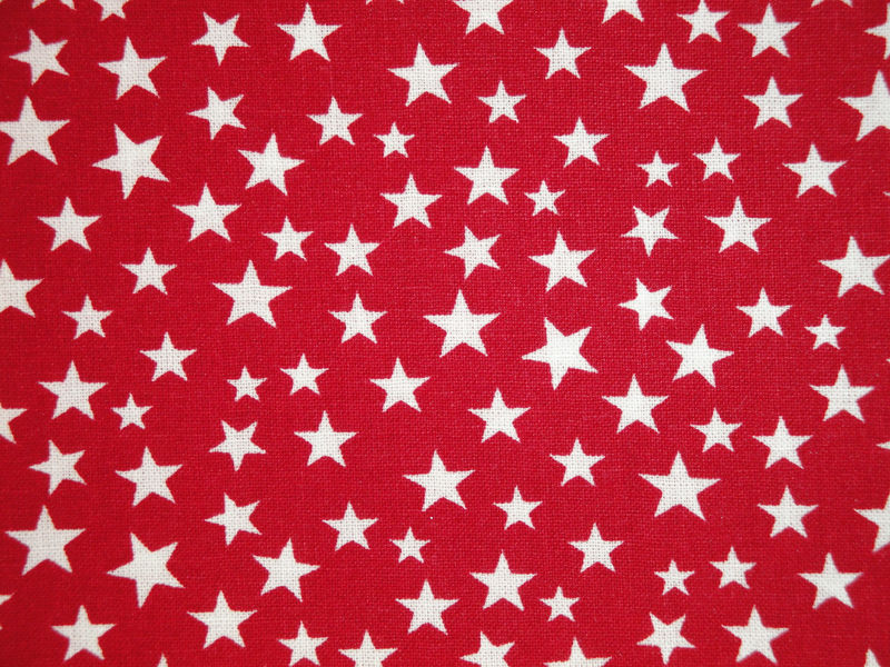Scattered Star Fabric Red With White Star Sold By The Yard - product image
