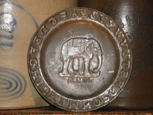 Antique Tin Jumbo Childs Alphabet Plate - product image