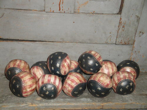 American Flag Baseball Hand Painted - product image