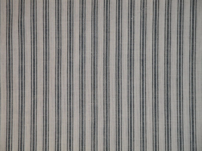 Homespun Ticking Fabric Blue And White Sold By The Yard  - product image