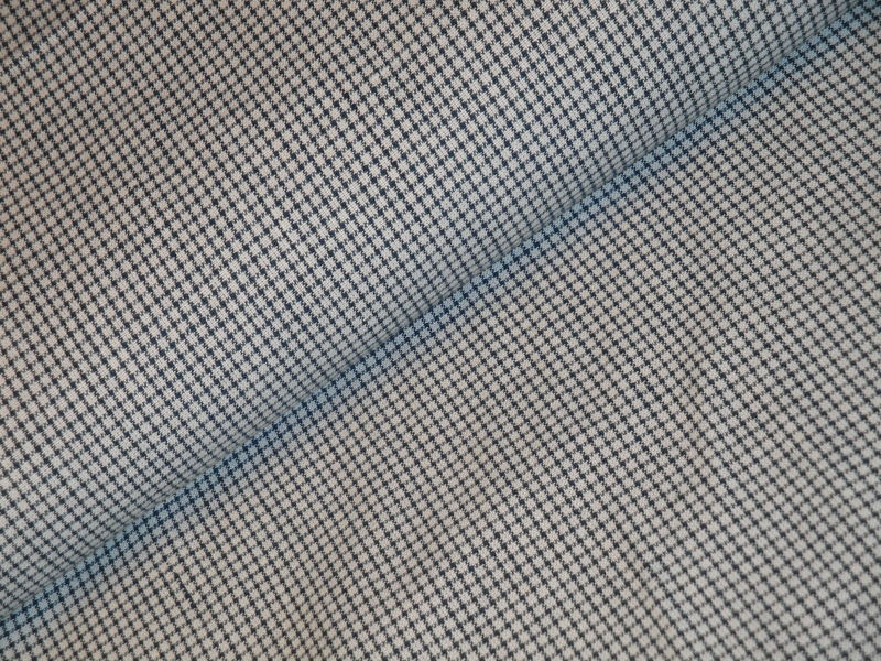 Window Pane Plaid Homespun Fabric Blue And White Sold By The Yard  - product image