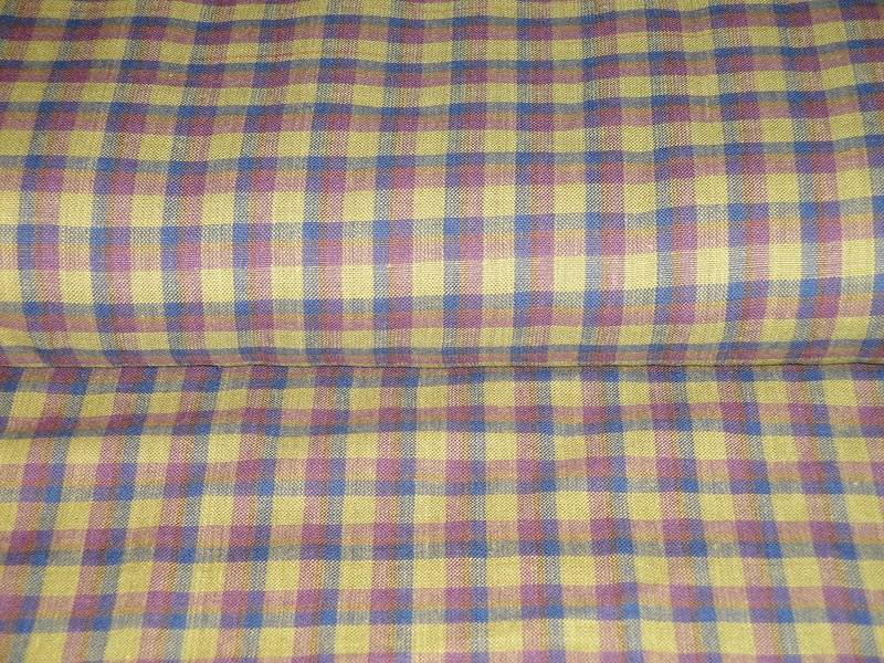 Homespun Material Plaid Olive Navy Wine Sold By The Yard - product image