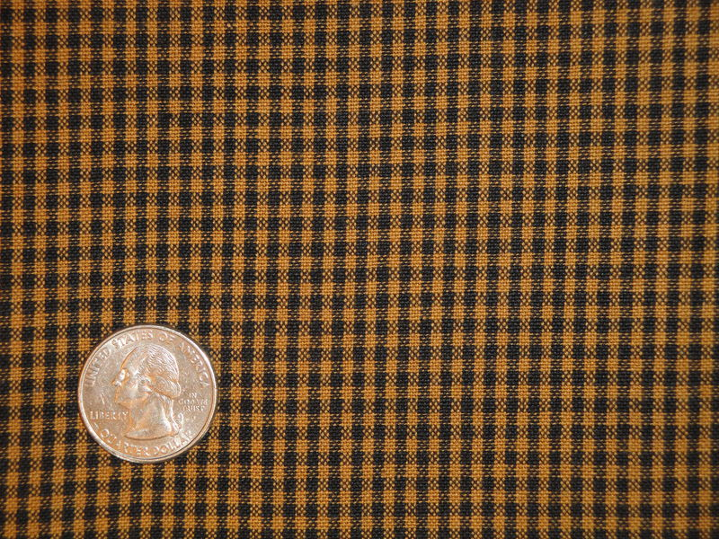 Pumpkin Spice Woven Cotton Homespun Small Check Fabric 1 Yard - product image