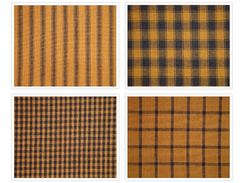 Pumpkin Spice And Black Woven Cotton Homespun Fabric Fat Quarter Bundle Of 4 - product image