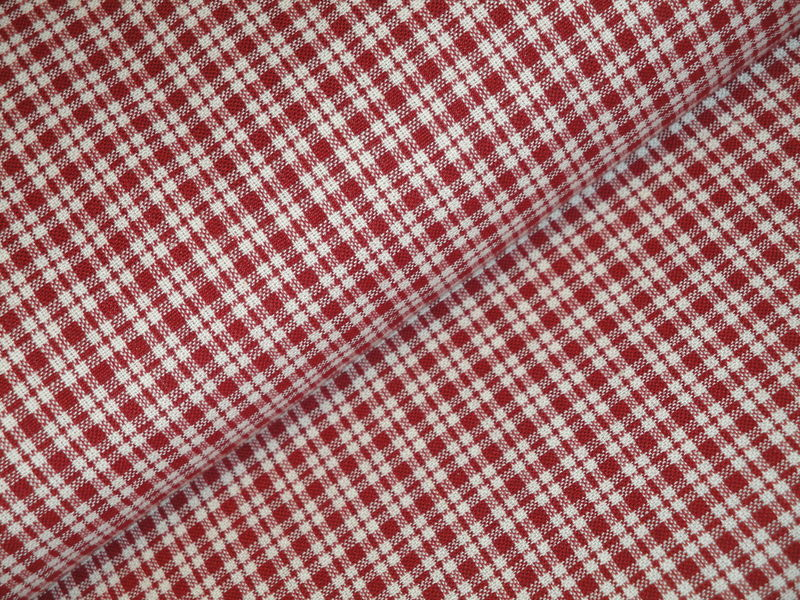 Cotton Homespun Fabric Small Plaid By The Yard - product image