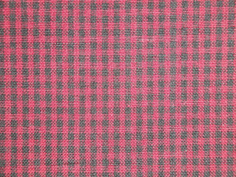 Wine,And,Black,Woven,Cotton,Homespun,Small,Check,Fabric,1,Yard,wine and black homespun fabric,  small check fabric, wine small check fabric. small check fabric, Dunroven House Homespun Fabric, primitive check fabric