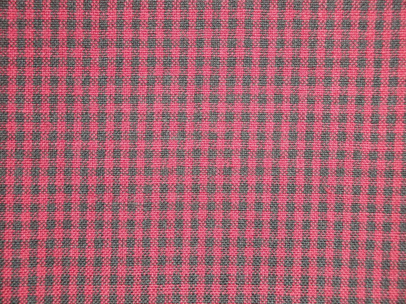 Wine And Black Woven Cotton Homespun Small Check Fabric 1 Yard - product image