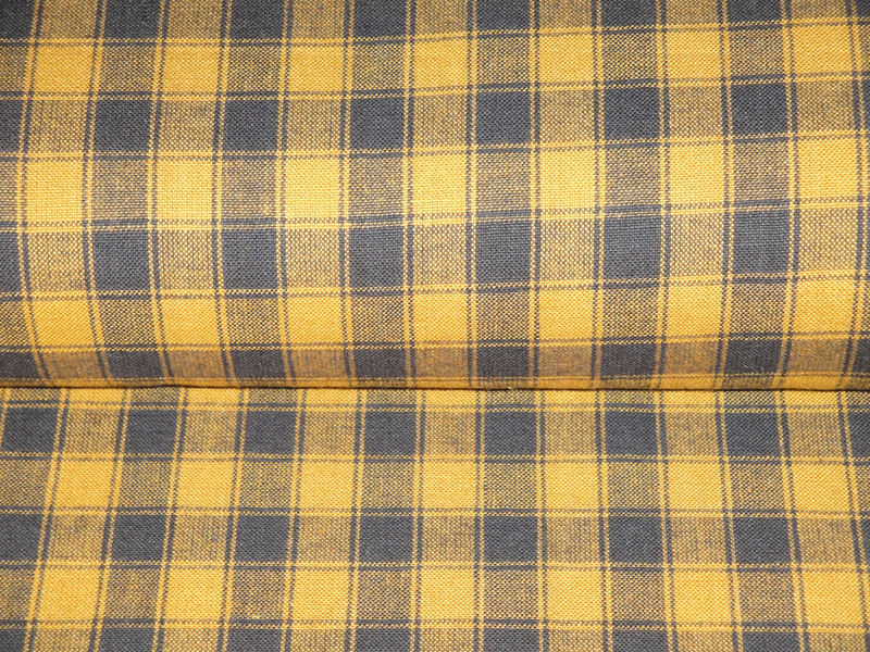 Pumpkin Spice Woven Cotton Homespun House Check Fabric 1 Yard - product image