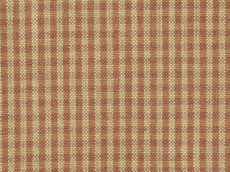 Brown And Tea Dye Small Check Cotton Homespun Fabric  - product image