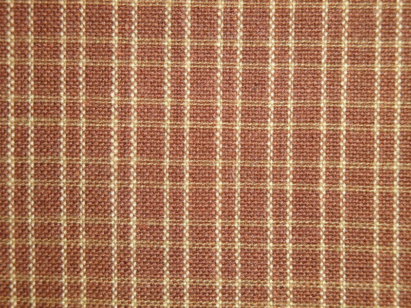 Brown And Tea Dye Double Pane Plaid Cotton Homespun Fabric  - product image