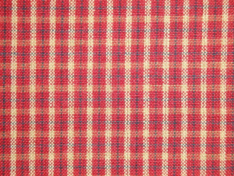 Red,Tea,Dye,Blue,Small,Plaid,Cotton,Homespun,Fabric,Dunroven House H352, plaid fabric, cotton plaid fabric, red blue tan plaid fabric, home decor plaid fabric. primitive plaid fabric, curtain plaid fabric. bedding plaid fabric.