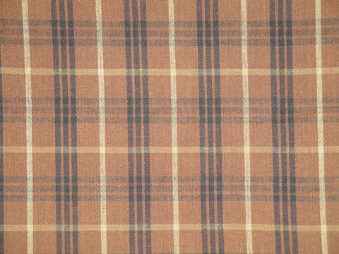 DARK,Brown,Black,Natural,Cotton,Large,Plaid,Homespun,Fabric, home decor plaid fabric, primitive plaid fabric, curtain plaid fabric. bedding plaid fabric, large plaid fabric