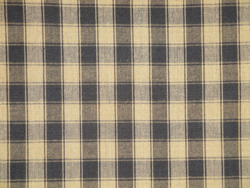 Black And Tea Dye House Check Cotton Homespun Fabric  - product image